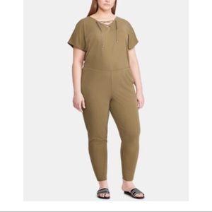 New Ralph Lauren green plus size jumpsuit 1X